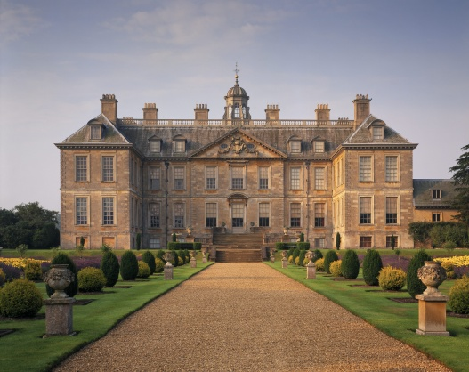 The North Front at Belton House, a restoration country house built 1685-88