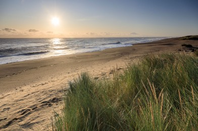 Sandilands beach which borders the former golf course, recently acquired by the National Trust Credit John Miller and National Trust Images